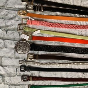 Large Bundle of Women's Belts!